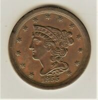 1855 SOLID AU    1/2 CENT       LOW MINTAGE   COLLECTOR OR T