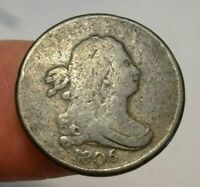 1806 DRAPED BUST HALF CENT    SMALL