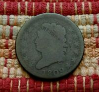 KEY DATE 1809 CLASSIC HEAD LARGE CENT, G/VG    JUST WEAR, NO CORROSION