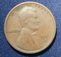 1911 S LINCOLN CENT 1  VF
