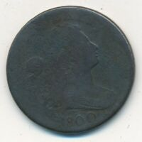 1800 DRAPED BUST LARGE CENT-A  CIRCULATED EARLY U.S. CENT-SHIPS FREE