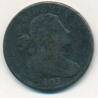 1803 DRAPED BUST LARGE CENT- CIRCULATED CENT-SMALL DATE/LARGE FRACTION-INV3