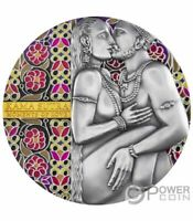 KAMA SUTRA MOMENTS OF LOVE 3 OZ SILVER COIN 3000 FRANCS CAME