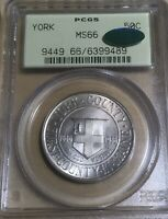 1936 OGH PCGS/CAC MINT STATE 66 YORK SILVER COMMEMORATIVE HALF DOLLAR