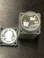 ROLL OF 40 2004 S PROOF FLORIDA 90  SILVER QUARTERS COIN L 1