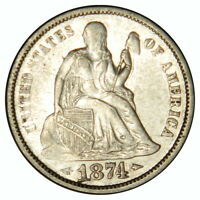 1874 SEATED DIME  EXTRA FINE   PRICED RIGHT