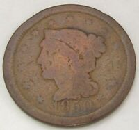 TWO LARGE CENTS 1850 1851, GOOD AND ABOUT GOOD, 162