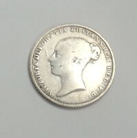 1855 GREAT BRITIAN 6 PENCE SILVER COIN