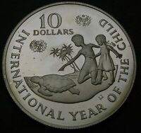 CAYMAN ISLANDS 10 DOLLARS 1982 PROOF   SILVER   YEAR OF THE