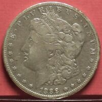 1888-O MORGAN SILVER VF DOLLAR U.S. COIN