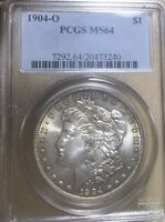 1904-O PCGS MINT STATE 64 MORGAN SILVER DOLLAR