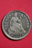 1853 P SEATED HALF DIME SILVER COIN EXACT COIN SHOWN COMBINED SHOPPING OCE 24