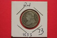 1833 CAPPED BUST DIME SILVER COIN ROTATED DIE COMBINED SHIPPING OCE 73