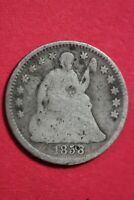 1858 P SEATED HALF DIME SILVER COIN EXACT COIN SHOWN COMBINED SHOPPING OCE 29