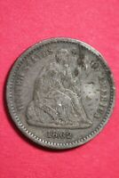 1862 P SEATED HALF DIME SILVER COIN EXACT COIN SHOWN COMBINED SHOPPING OCE 30