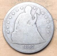 1847 SEATED LIBERTY DOLLAR  CHEAP