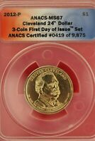 2012 P MINT STATE 67 GROVER CLEVELAND PRESIDENTIAL DOLLAR ANACS CERTIFIED SLAB OCE 308