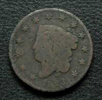 1823 MATRON HEAD LARGE CENT, VG DETAILS    KEY DATE