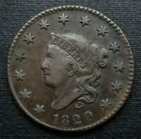 1820 MATRON HEAD LARGE CENT     SMALL DATE GEM    CHECK VALUE IN THIS GRADE