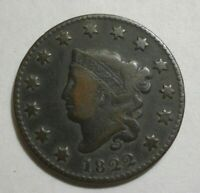 1822 MATRON HEAD LARGE CENT, VF    EXCELLENT STRIKE & CENTERING, PLEASING