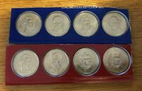2008 P & D PRESIDENTIAL DOLLAR 8 COIN SET SEALED UNCIRCULATED MINT SET CELLO