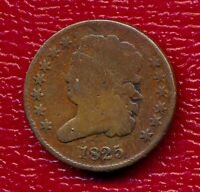 1825 CLASSIC HEAD HALF CENT LY CIRCULATED SHIPS FREE