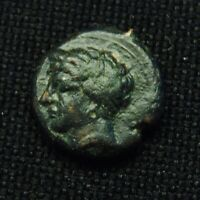 15 SICULO PUNIC PERSEPHONE/TANIT RV HORSE GALLOPING 4.35 GR 15 6MM 4TH CENT BC