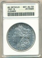 1901 MORGAN SILVER DOLLAR-ANACS OLD HOLDER GRADED AU DETAILS-SHIPS FREE