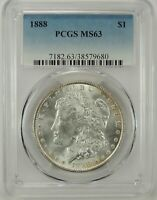 1888-P $1 MORGAN SILVER DOLLAR PCGS MINT STATE 63 38579680  VAM 33A DIE CHIP