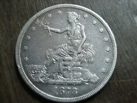 1878 S US SILVER SEATED TRADE DOLLAR XF EF DETAILS AUTHENTIC