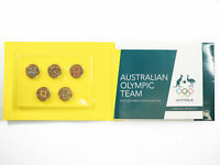 2016 OLYMPICS GAMES 5X $2 COLOURED COIN CARDED SET D3 2358