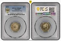 2012 AUSTRALIA TWO DOLLAR $2 REMEMBRANCE DAY PCGS   MS65  03