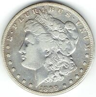 1899-S $1 MORGAN SILVER DOLLAR, SEMI-KEY, TOUGH DATE, COIN HAS BEEN CLEANED