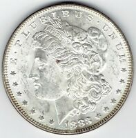 1883-P $1 MORGAN SILVER DOLLAR BU WITH FULLY TONED REVERSE