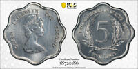 1987 EAST CARIBBEAN STATES 5 CENT PCGS SP63 EX. RARE KINGS N