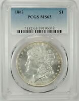 1882-P $1 MORGAN SILVER DOLLAR PCGS MINT STATE 63 39196038 - BETTER DATE / EYE APPEAL