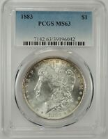 1883-P $1 MORGAN SILVER DOLLAR PCGS MINT STATE 63 39196042 - EYE APPEAL GREAT BU COIN