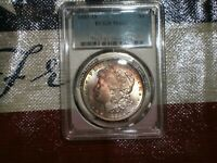 1885-O MORGAN DOLLAR -PCGS - MINT STATE 63 - TONED OBVERSE - ALMOST A RAINBOW