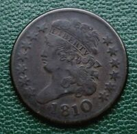 1810 CLASSIC HEAD HALF CENT, VF     EXAMPLE OF A  TOUGH DATE