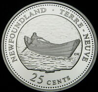 CANADA 25 CENTS 1992 PROOF   SILVER   NEWFOUNDLAND   1312