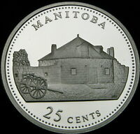 CANADA 25 CENTS 1992 PROOF   SILVER   MANITOBA   1314