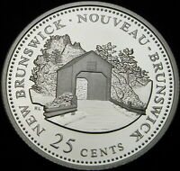 CANADA 25 CENTS 1992 PROOF   SILVER   NEW BRUNSWICK   1315