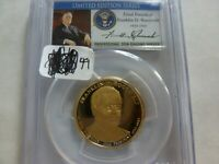 2014-S FRANKLIN D. ROOSEVELT DOLLAR PCGS PR70DCAM LIMITED EDITION SERIES 59