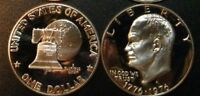 1976 S EISENHOWER DOLLAR TYPE 1 GEM CAMEO CLAD PROOF COIN IKE FROM US PROOF SET