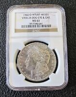 1902 O MORGAN DOLLAR VAM 25 DOUBLED EYE AND EAR NGC MINT STATE 63 HIT LIST 40