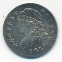 1814 CAPPED BUST SILVER DIME-SMALL DATE-MAGNIFICENT EARLY U.S. DIME-SHIPS FREE