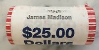2007-D JAMES MADISON PRESIDENTIAL $1 ONE DOLLAR 25 COIN ROLL UNCIRCULATED
