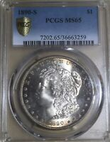 1890-S PCGS MINT STATE 65 MORGAN SILVER DOLLAR
