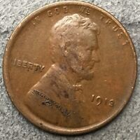 1913 P LINCOLN WHEAT CENT PENNY - HIGHER GRADE  FREE SHIP. B979