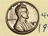 1935-D 1C BN LINCOLN CENT WHEAT CENT 4449K